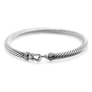 David Yurman Cable Buckle Bracelet with Diamonds 5mm