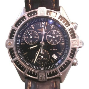 Breitling J Class 53067 18K Yellow Gold & Stainless Steel Leather 41mm Watch