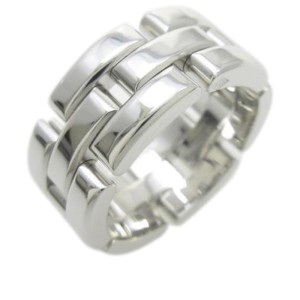 Cartier 18K White Gold Maillon Panthere Ring Size 4.75
