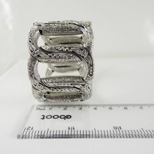 Konstantino Sterling Silver Apasia Interlocking Link Cuff Bracelet