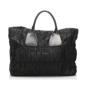 Tessuto Gaufre Nylon Tote Bag