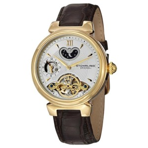 Stuhrling Magister 128.333K2 Stainless Steel & Leather 41mm Watch