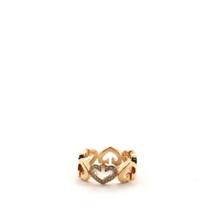 Cartier C Heart de Cartier Ring 18K Rose Gold and Diamonds