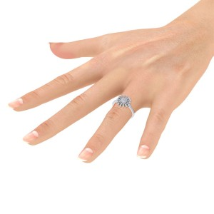 GLAM ® Sunflower Ring in 18K Gold With 0.43ct White Diamonds
