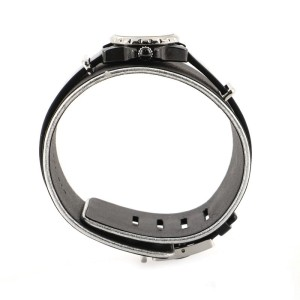 Chanel J12 XS Quartz Watch Ceramic and Stainless Steel with Diamond Flange and Leather 19