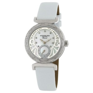 Stuhrling Soiree 504.1215P7 Stainless Steel Diamond & MOP 34mm Watch