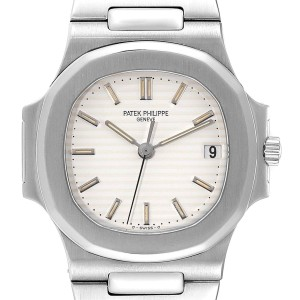 Patek Philippe Nautilus White Dial Automatic Steel Mens Watch 3800