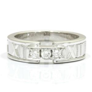 TIFFANY & Co. 18k white gold Diamond Atlas Ring CHAT-509