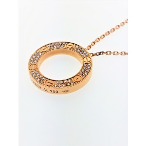 Cartier Love 18K Pink Gold & Diamonds Necklace