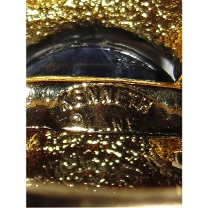 Kenneth Lane 18K Gold Plated Rhinestone Eyes Jelly Belly Owl Ring Size 7.0