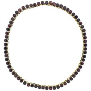 Garnet Gold Riviera Necklace