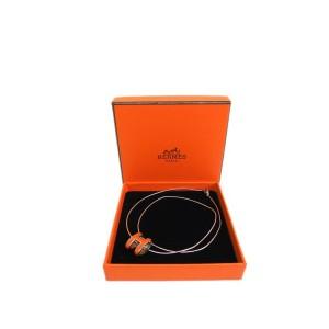 Hermes Palladium Pop H Necklace