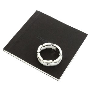 Chanel 18K White Gold Ultra Band White Ceramic Ring