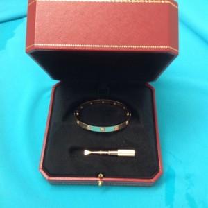 Cartier 18K Rose Gold 10 Diamonds Love Bracelet Size 16