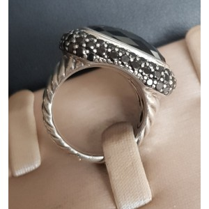 David yurman  Waverly Limited-Edition Ring with Black Onyx and Black Diamonds