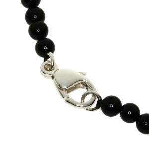TIFFANY&Co. Silver Onyx heart Necklace
