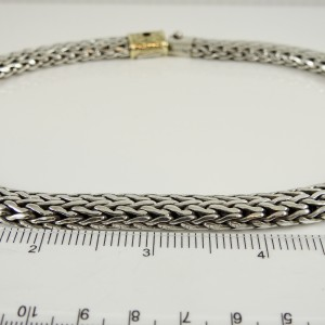 """John Hardy Sterling Silver 18K 16"""" 12mm Classic Chain Necklace with 18K Gold Clasp"""