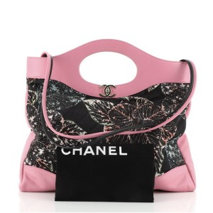 Chanel 31 Shopping Bag Quilted Printed Cotton and Calfskin Large