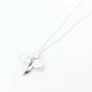 Tiffany & Co. silver vintage leaf necklace