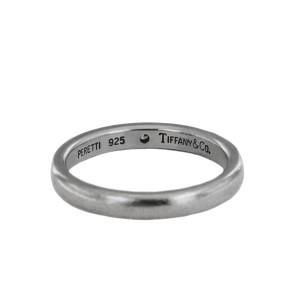 Tiffany & Co Sterling Silver Diamond Elsa Peretti Band Ring
