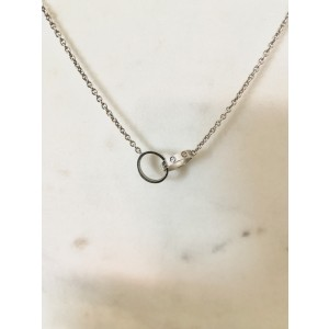 Cartier Love Necklace in White Gold