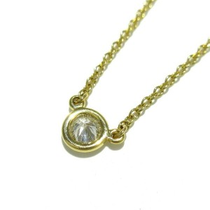 TIFFANY&Co. 18K Yellow Gold Diamond By The Yard Necklace