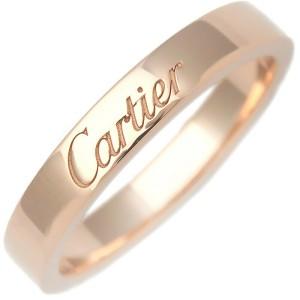 Cartier 18k Rose Gold Engraved Ring