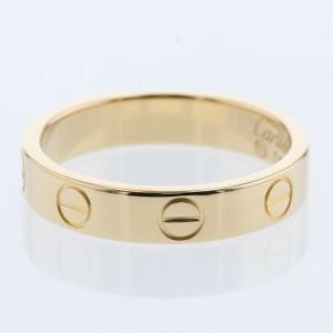 CARTIER K18 Yellow Gold Mini Love Ring EU49 Sku:TBRK-1