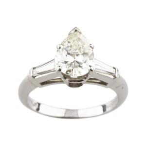 Platinum with 1.80ctw. Diamond Engagement Ring Size 5.5
