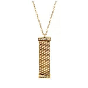Tiffany & Co. Yellow Gold Diamond Somerset Mesh Pendant Necklace