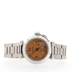 Cartier Pasha C GMT Automatic Watch Watch Stainless Steel 35