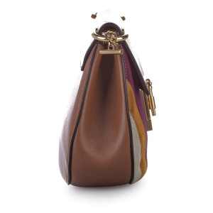 Drew Patchwork Leather Crossbody Bag