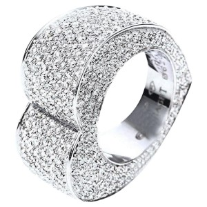 Piaget 18K White Gold Ring Size 8.75