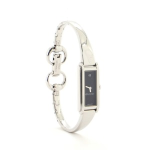 Gucci G-Frame Rectangular Bangle Quartz Watch Stainless Steel with Diamond 12