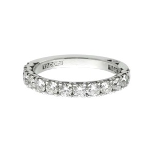 Tacori 18K White Gold 1.09ctw Diamond Ring Size 6.5