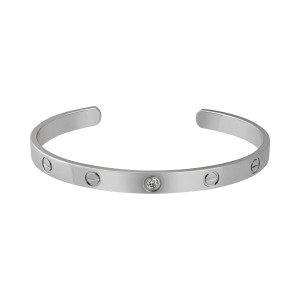 Cartier Love Bracelet 18K White Gold 0.10ct Diamond