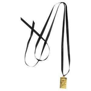 Chanel CC Pendant Ribbon Necklace