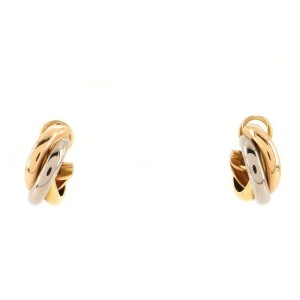Cartier Trinity Clip On Earrings 18K Tricolor Gold