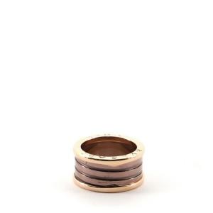 Bvlgari B.zero1 Three Band Ring 18K Rose Gold and Ceramic