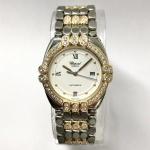 CHOPARD GSTAAD Automatic 32mm 18K Yellow Gold & Steel Ladies Diamond Watch