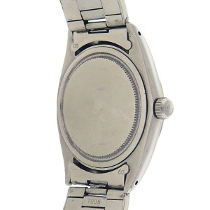 Rolex Oysterdate 6694 Stainless Steel Silver Dial Automatic 34mm Mens Watch