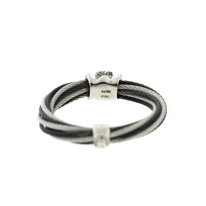 Alor 18K White Gold/Stainless steel & Black PVD & GRAY Stainless steel RING