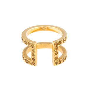 18K Yellow Gold Yellow Sapphire Korali Ring