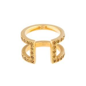 18K Yellow Gold Yellow Sapphire Korali Ring