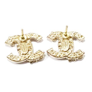 Chanel Gold Tone and Rhinestone CC Starfish Piercing Earrings