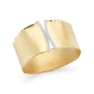 I.Reiss Matte And Hammer-Finished Cuff Bracelet