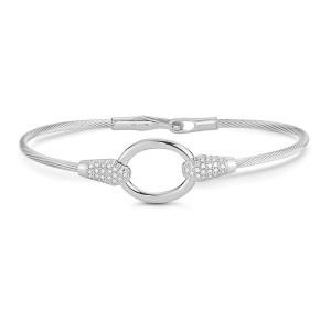 I.Reiss Open Oval Wire Bracelet
