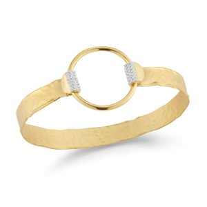 I. Reiss BIR489Y 14k Yellow Gold diamonds0.22 H-SI Diamonds Bracelet