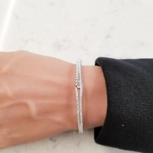 0.71 Carat Total Diamond Bracelet in 18 Karat White Gold