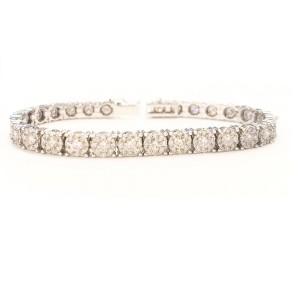 6.30 Carat Total Diamond Bracelet in 14 Karat White Gold